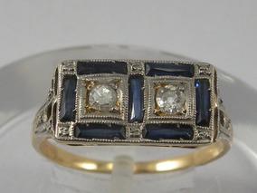 dc57af0f692c Hermoso Anillo Zafiro Azul - Joyas y Relojes en Mercado Libre Argentina