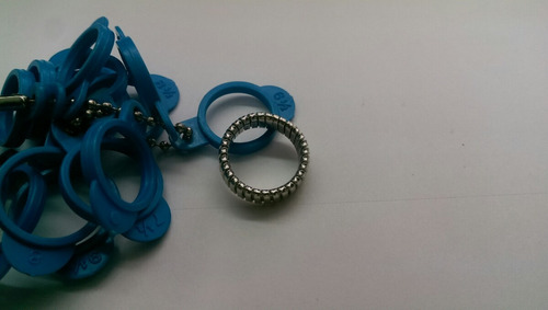 anillo articulado en oro blanco de 18 quilates número 6.5
