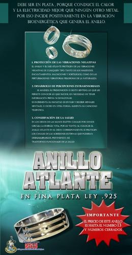 Anillo Atlante, Autentico En Fina Plata .925 Al Mejor