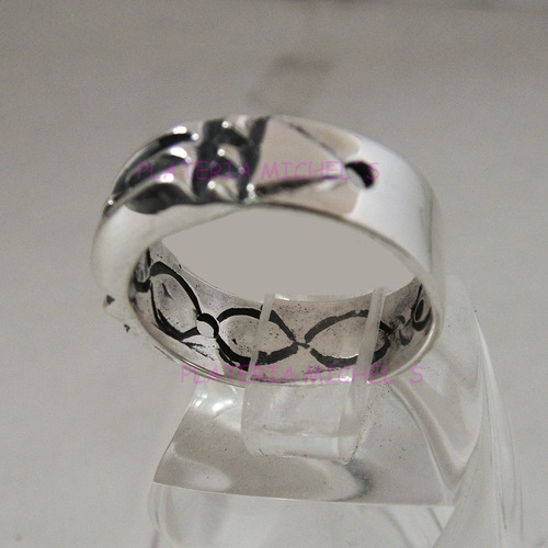 anillo atlante egipcio reforzado en plata ley 0.925   vv4