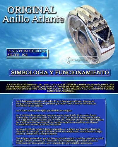 anillo atlante original, hecho en fina plata.