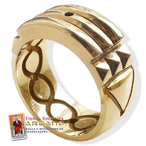 anillo atlante plata y baño  oro de 14 kilates