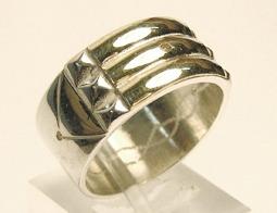 anillo atlante plata y oro