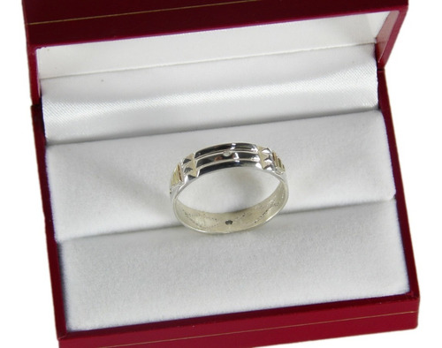 anillo atlante protector plata y oro amuleto de energía