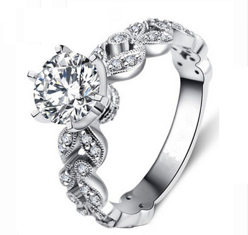 anillo baño plata zirconia estilo romano envío gratis!