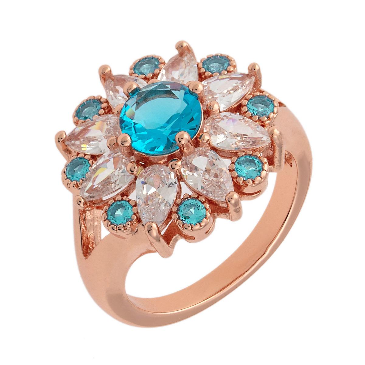 5f94b9f1400e anillo bertha juliet chapado en oro rojo 18k p mujer talla 7. Cargando zoom.