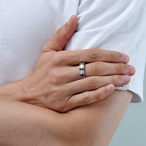 anillo bodas titanio joyerí 6mm tres teclas cepillado cent