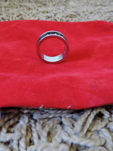 anillo brilho de acero con oro goldfilled