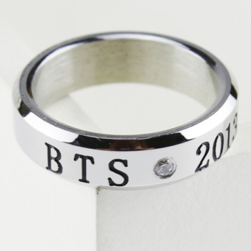 anillo bts bangtan boys kpop coreano acero titanio con fecha