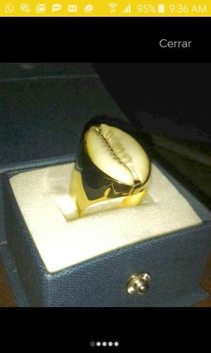 anillo buzio en oro 12k