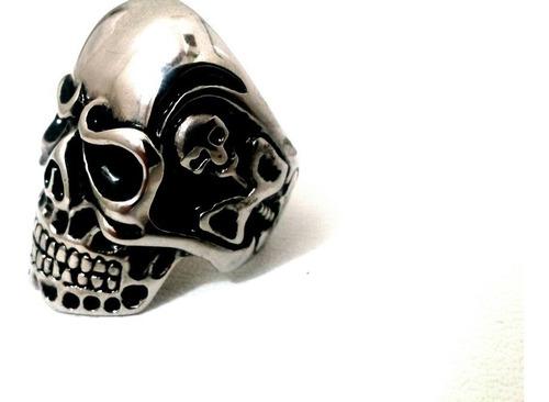 anillo calavera acero inoxidable