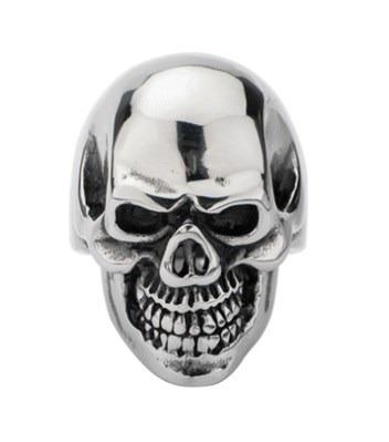 anillo calavera craneo acero inox. rock punk bikers