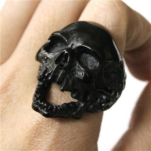 anillo calavera dark acero inoxidable con envío hombre mujer