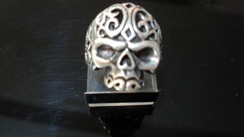 anillo calavera plata 925,diseño exclusivo.