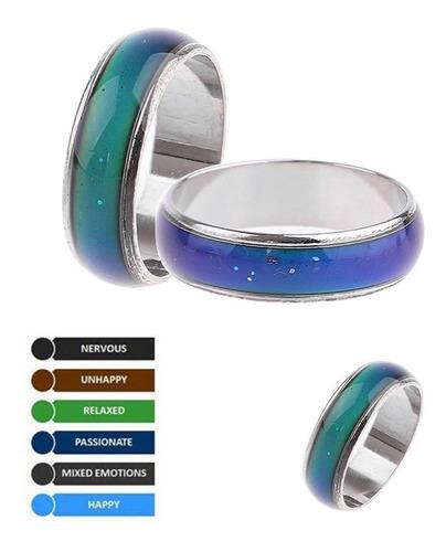 anillo cambio de color humor animo hombre mujer regalo ideal