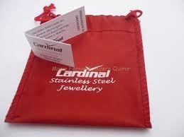 anillo cardinal acero calado y strass listo para regalo
