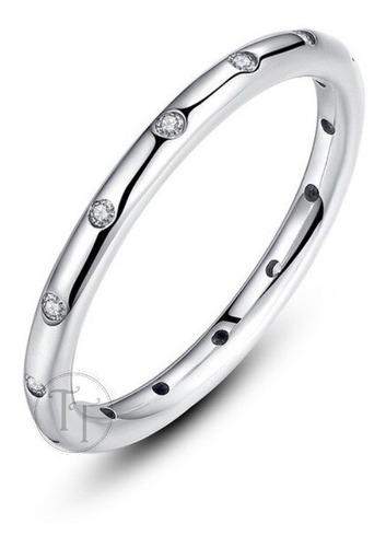 anillo chispas brillante plata esterlina 925 zirconia 1.0 ct