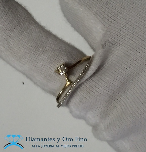 anillo churumbela solitario con .35 ct diamantes naturales