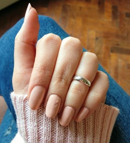 anillo cinta liso midi falange de plata 925