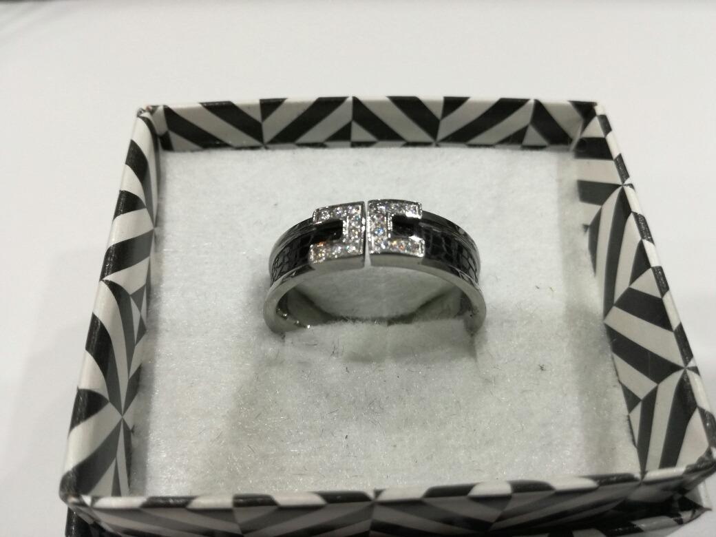 anillo cinturón con piedras y esmalte negro acero quirúrgico. Cargando zoom. 11b72b8762cd
