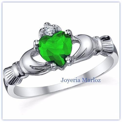 anillo claddagh promesa amor oro 14kt irlandés compromiso