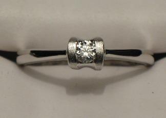 anillo compromiso 14k diamante natural .10 puntos g vvs2