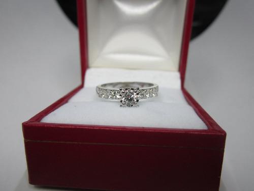 anillo compromiso 14k diamante natural .55 puntos g vvs2
