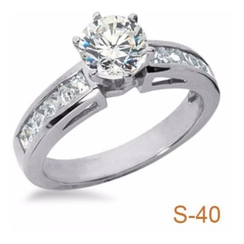 anillo compromiso .75ct diamante natural color g, pureza vs1
