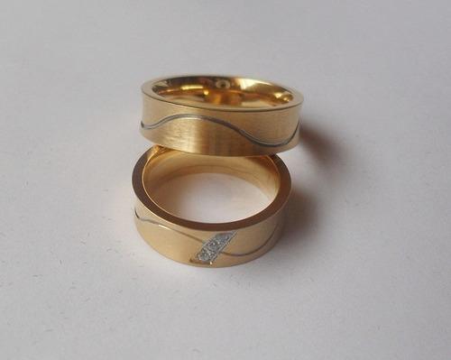 anillo compromiso acero quirúrgico, ilusiones