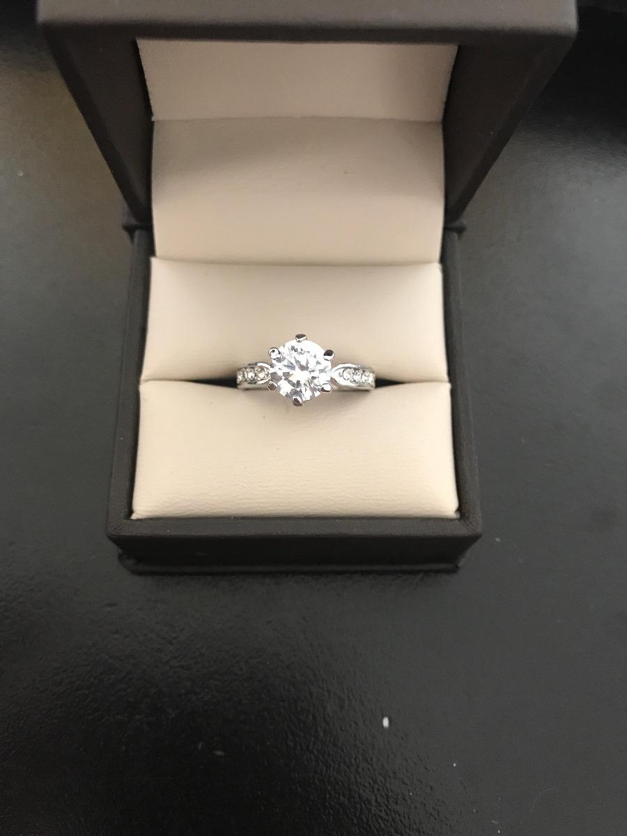 1e7ba259b7fd anillo compromiso cartier oro blanco 14kt. Cargando zoom.