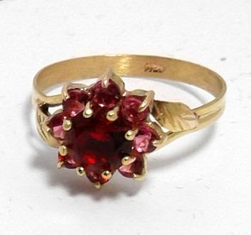 anillo compromiso cintillo roseta cubic oro 18k  a203