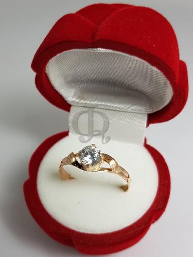 anillo compromiso cintillo solitario cubic oro 18k  a210