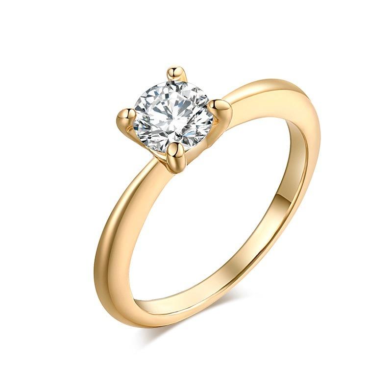 8eb5e9f20c97 anillo compromiso cristal zirconia color dorado regalo a-534. Cargando zoom.
