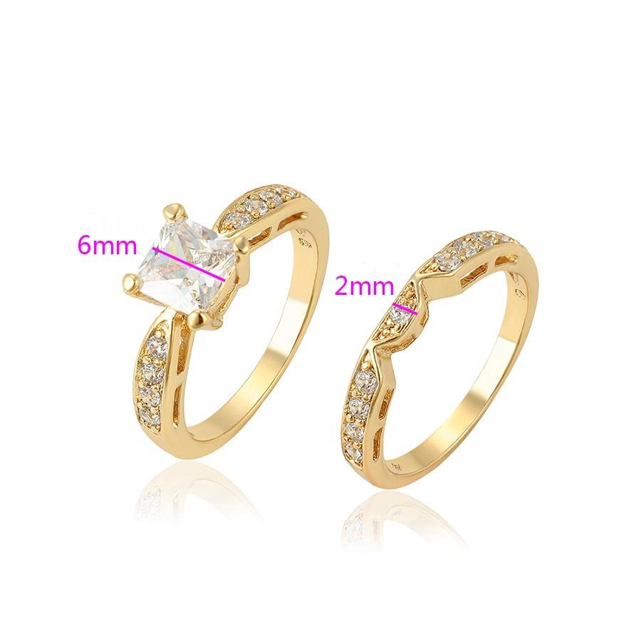 4e282a476900 anillo compromiso de oro 14k lam c zirconias corte diamante. Cargando zoom.