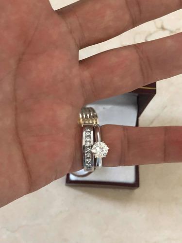 anillo compromiso diamante natural .23ct (puntos) oro14 kt