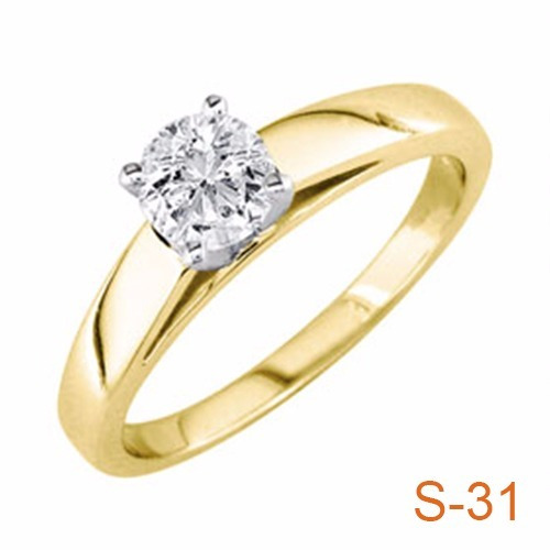 anillo compromiso diamante natural .25ct (puntos) oro 14 kt.