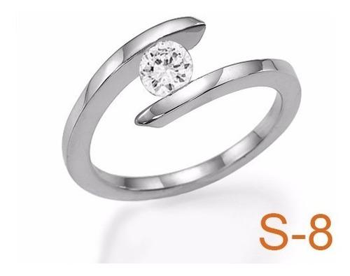 anillo compromiso diamante natural .40ct (puntos) oro 14 kt.