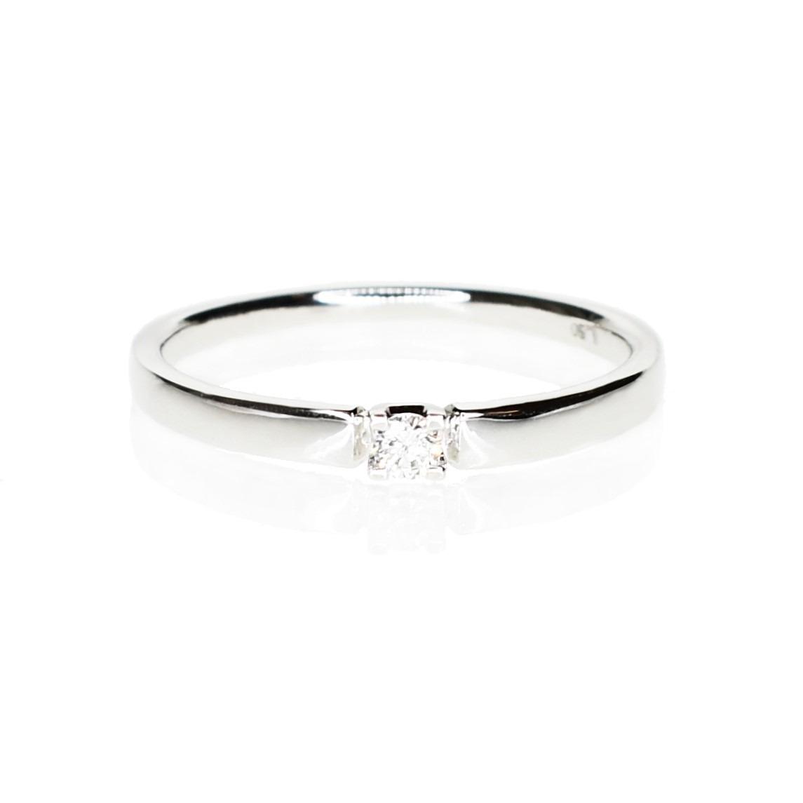2a1d6b45298e Anillo Compromiso Diamante Solitario Oro Blanco 18 Kts. -   26.100 ...