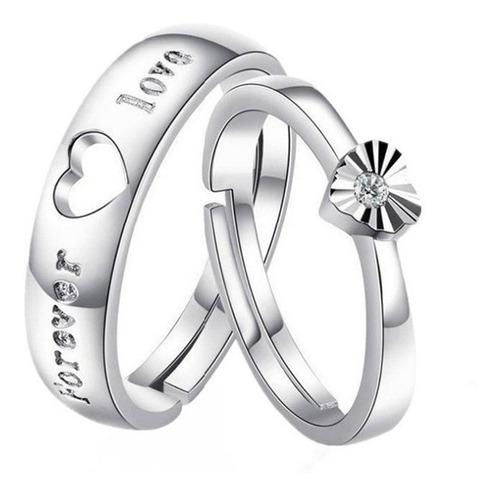 anillo compromiso forever love corazón promesa hombre mujer