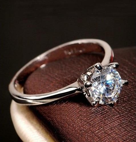 anillo compromiso love / heart /solitario zirconia valentine
