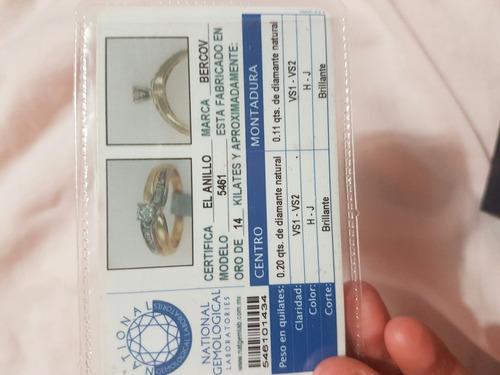 anillo compromiso marca bercov