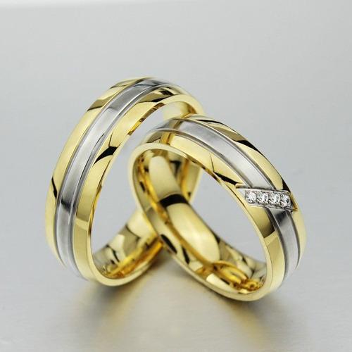 anillo compromiso, matrimonio, alianzas, anivers. 18k acero
