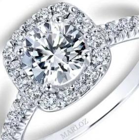 90572f265a1c Anillo Compromiso Mod Tiffany Oro Blanco 18k .90ct Brillante