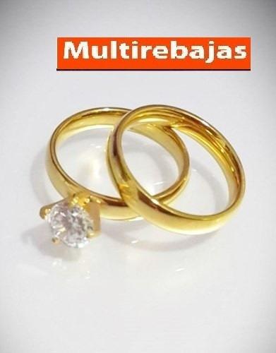 anillo compromiso noviazgo acero quirurgico italiano