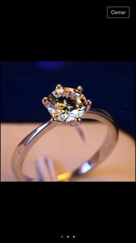 anillo compromiso o para vestir bien enchapado y baño oro18k