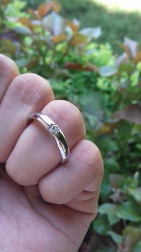 anillo compromiso oro 10 k con diamante
