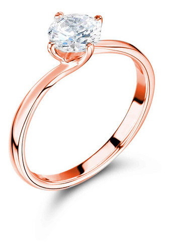 anillo compromiso oro 10k swarovski estuche y envío gratis t