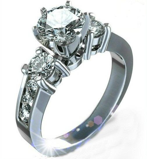 026f2d7af18c Anillo Compromiso Oro 14k Con Zirconias Corte Diamante Ex ...
