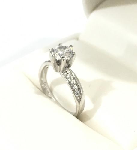 anillo compromiso oro 14k zirconias con envío gratis