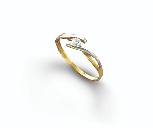 anillo compromiso oro 18k cód. 360  ¡ bello solitario !